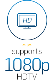 supports 1080p HDTV